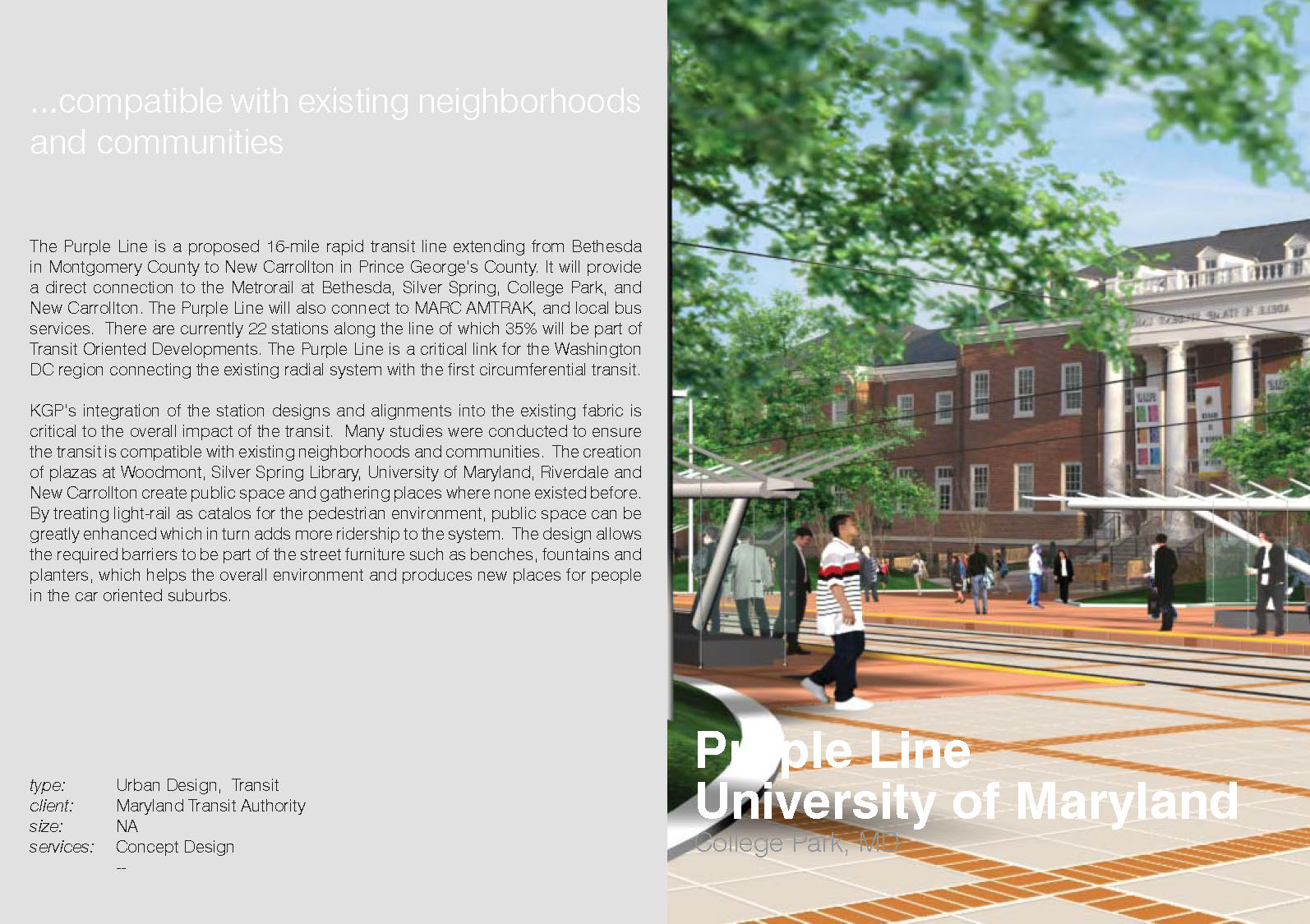 MTA University of Maryland - Project Information